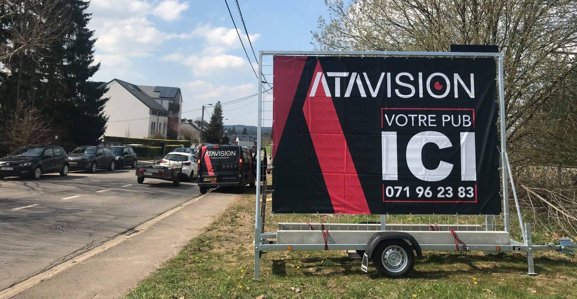 remorque-publicitaire-stationnaire-atavision-luxembourg-belgique